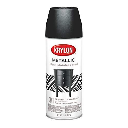 Krylon Brilliant Metallic Aerosol Paint, Black Stainless Steel