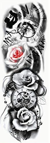 EROSPA® Tattoo-Bogen temporär - Oberarm/Unterarm - Frauen/Männer Wasserfest 46 x 17 cm
