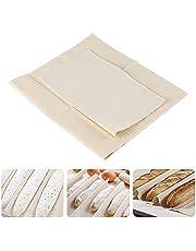 Fyfjur 2 Piezas Paño de Lino Panadero, 100% Algodón Natural, Tela de Lino para Masa Pan, Pan de Lino Fermentación, Tela Fermentacion Pan para Hornear Pan Francés Pastelería Baguette(2 en 1 )