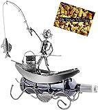 Brubaker portabottiglie dal Design Pescatore in Una Barca Che Pesca