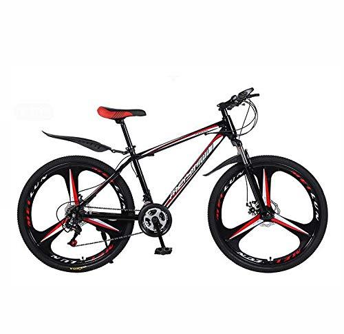 GASLIKE Bicicleta de Bicicleta de montaña de 26 Pulgadas, Acero de Alto Carbono y Marco de aleación de Aluminio, Freno de Doble Disco, PVC y Todos los Pedales de Aluminio