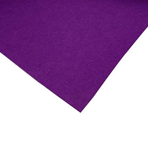 BENECREAT 40cmx2m Selbstklebender Stick Filz Purple Adhesive Felt Fabric Shelf Liner Für Box Liner, Tassenmatten, Bilderrahmen, Stuhlbeine, 1 mm Dick