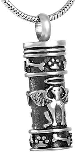 Crematie Urn Ketting Ash Ketting Brandende Sieraden Hond Been Zwart Oppervlak Memorial Asbak Huisdier Hond Beenhouder Souvenir RVS Hanger Asbak