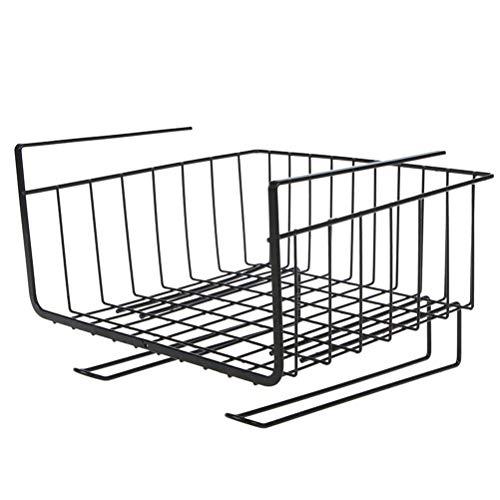 Base per armadietto da cucina Cestini da appendere attaccabili in metallo, Cestino portaoggetti sotto ripiano con doppio gancio Cestello portaoggetti in rete di ferro per cucina, ufficio, dispensa