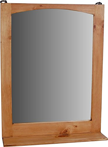 MiaMöbel Spiegel Mexico Möbel 60x78x15 cm Landhausstil Glas Massivholz Pinie Honig