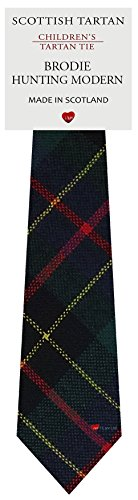 I Luv Ltd Garçon Tout Cravate en Laine Tissé et Fabriqué en Ecosse à Brodie Hunting Modern Tartan