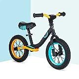 FMGFGFMG Bicicleta de equilibrio para niños sin pedal, bicicleta de bebé de 3 a 7 años con neumáticos (color: azul)