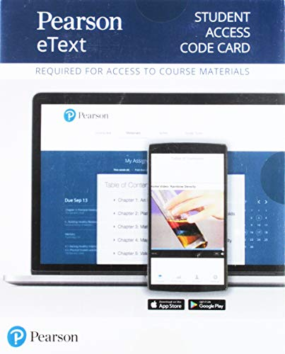 Pearson Etext Chemistry for Changing Times Access Card