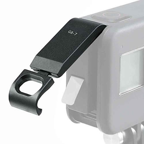 SUNERLORY Ersatzadapter für das Batteriefachgehäuse Abnehmbarer, professioneller, tragbarer, staubdichter Ladeanschluss vom Typ C Zubehör für die Installation der Kamera für GOPRO Hero 8