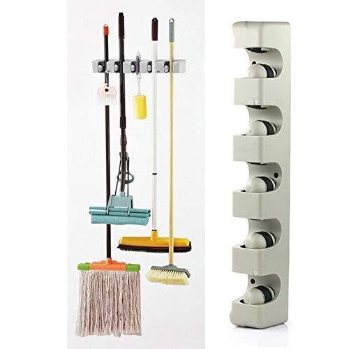 Broom Holder - Abs Organizer 5 Position Wall Mounted Shelf Storage Holder Broom S Hanger Home - Ring Depot Strip Shelf Hooks Adjustable 10pcs Coupon No Mount