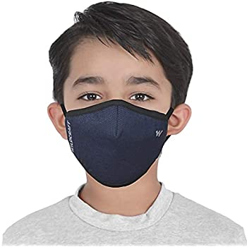 WILDCRAFT SUPERMASK W95 Plus Reusable Outdoor Respirator with neckband for Kids(Small) (PACK OF 3, POINTEL : BLU_POSDN)