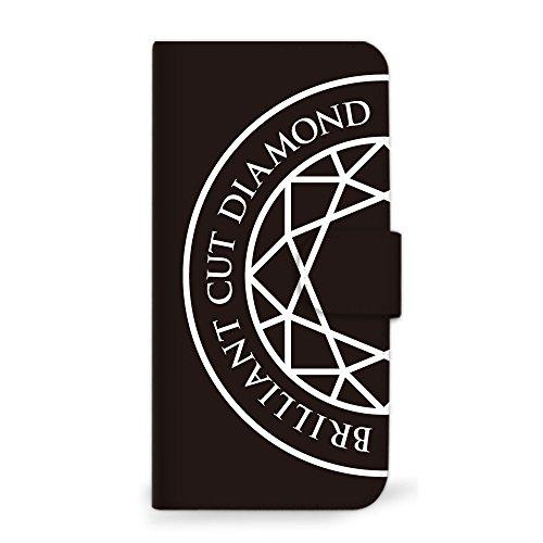 mitas Galaxy S8 SCV36 ケース 手帳型 ダイヤモンド シンプル ブラック (341) SC-0358-BK/SCV36