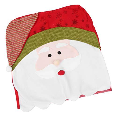 YARNOW Fundas para Sillas de Navidad Fundas Traseras para Sillas de Santa Claus Funda de Asiento a Prueba de Polvo para Comedor Cocina Decoraciones Navideñas Navideñas