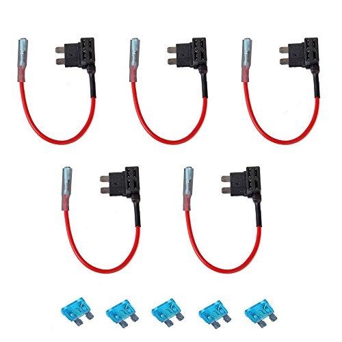 FJROnline Lot de 5 porte-fusibles à lame standard ATO ATC 12 V 24 V pour voiture