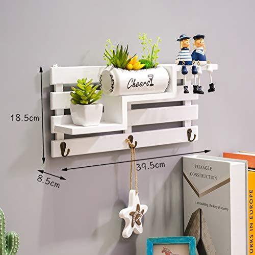 Wall shelf Floating shelf wandrek drijvende planken van hout opslagrek trapeziumvorm wandrek hout organiseren rek Home ornament wanddecoratie (geïmporteerd grenen), Home Decoration wandrek Zwever C