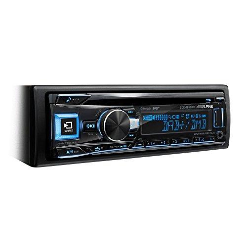 Alpine CDE-196DAB Bluetooth Schwarz - Auto Media-Receiver (Schwarz, 1 DIN, 4.0 Kanäle, 50 W, CD,CD-R,CD-RW, AF,EON,PTY,TA,TP)