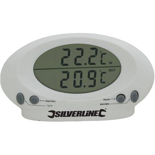 Silverline 675133 Binnen/buiten Lucht & Water Thermometer (-50 naar 70°C)