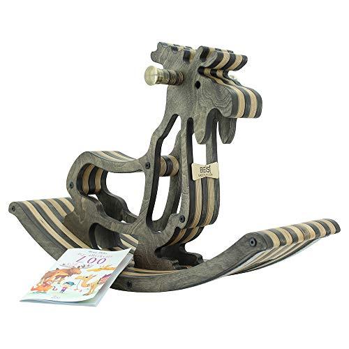Sweety Toys 11179 Cavallo a Dondolo di Legno Alce Americano
