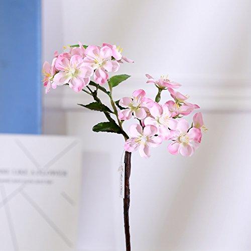 GANHUA Simulatie dans kersenbloesem enkele multi-kleur vaas bloem arrangement huis bloemen accessoires decoratie bloemen schieten rekwisieten Pink