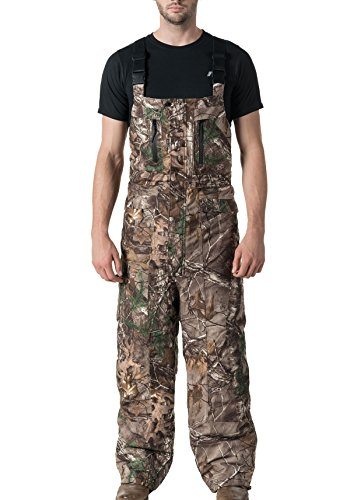 10X Men's Waterproof Breathable Insulated Bib Overall with Scentrex, Real Tree Extra, XX-Large