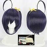 Cyuunibyou Demo Koiga Shitai Take On Me Takanashi Rikka Cosplay Wig Love, Chunibyo & Other Delusions Blue Hair With Eye Mask One Size Dark Blue