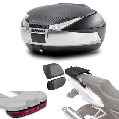 Sh48lurehe49 - Kit fijacion + Maleta baul Trasero + luz de Freno + Respaldo Regalo sh48 Compatible con Yamaha Tracer 900 2015-2017 Yamaha mt-09 Tracer 2015-2016