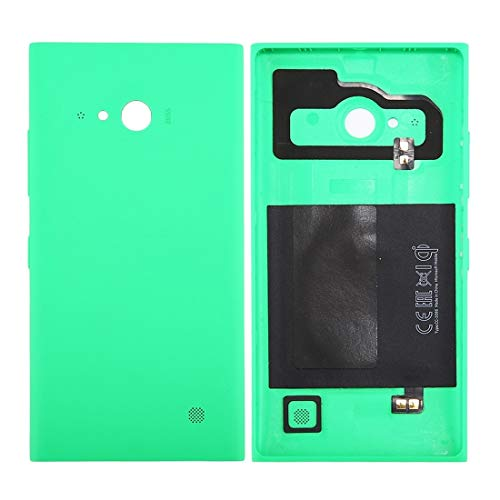 Generic -Solid Color NFC Battery Back Cover for Nokia Lumia 735 (Black) Fine (Color : Green)
