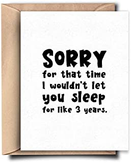 Sorry Mom Funny Mothers Day Card from Daughter, Son - Funny Mom Card