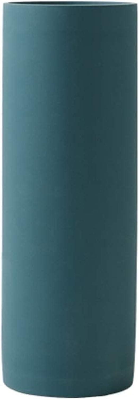 HBJP OrneHommests en céramique de Vase Droite Simple décoration en céramique Illustration Fleur séchée Vase (Couleur   Vert)