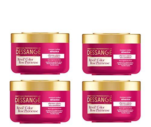 Dessange Wecker Color Rose Précieuse Farbbrille, Reparatur, 250 ml, 4 Stück