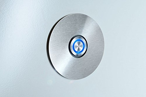 RADIUS Edelstahl Klingelschalter Klingeltaster blau 580 d