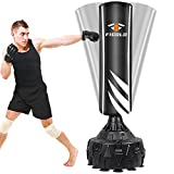 Freestanding Punching Bag 70' - 190lbs Heavy Boxing Bag with 12 Suction Cups Base for Adult Youth Kids - Men Stand Kickboxing Bag for Home Office