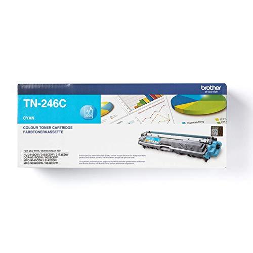 Brother Original Jumbo-Tonerkassette TN-246C cyan (für Brother HL-3142CW, HL-3152CDW, HL-3172CDW, DCP-9017CDW, DCP-9022CDW, MFC-9142CDN, MFC-9332CDW, MFC-9342CDW)
