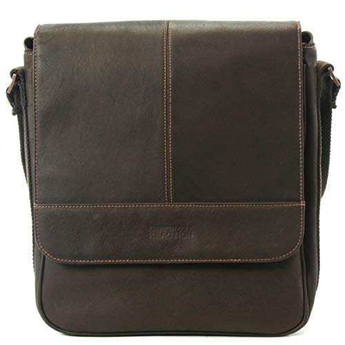 Kenneth Cole Reaction Colombian Leather Single Compartment Flapover Tablet Case, Brown