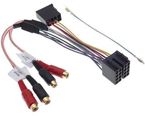 ISO Salida RCA line adaptador convertidor de cable altavoz amplificador