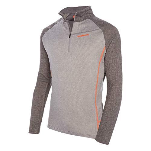 Trangoworld TRX2 Wool Pro Pullover intérieur, Homme M Gris Clair/Gris foncé