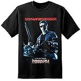 Herren Terminator 2 Retro Klassisch Filmposter T-Shirt T800 Cyberdyne Systems Skynet - Schwarz, M