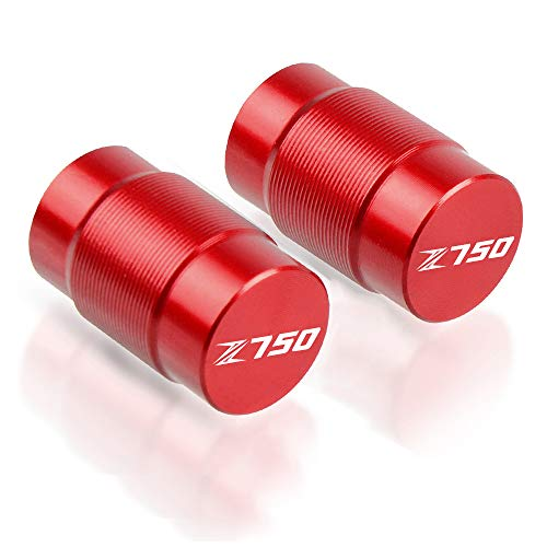 Motocicleta De Neumático Tapones de Válvula para Kawasaki Z750 Z 750-Rojo