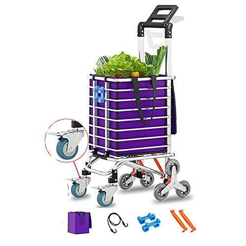 rff Carrito de Compras/de Ancianos escaleras de Escalada portátiles Plegable Tienda de Compras Carrito/Trolley Trailer 35l (Color : A)
