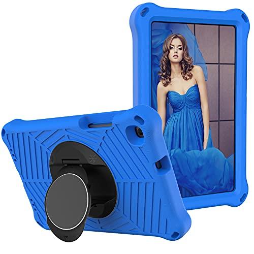 SZCINSEN Funda para tablet Samsung Galaxy Tab A 8.0 2019 SM-T290/T295, a prueba de golpes, con soporte giratorio ligero y duradero, correa para el hombro (color azul)