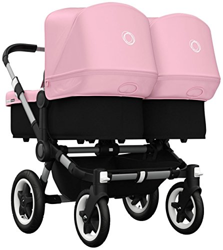 Best Prices! Bugaboo Donkey Twin Stroller Bundle - Soft Pink - Aluminum Base