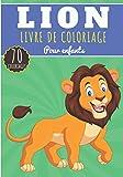 Livre de Coloriage Lion: Pour Enfants Filles & Garçons | Livre Préscolaire 70 Pages de Coloriages et Dessins Uniques à Colorier sur Les Lions, Tigre, ... | Idéal Activité Anti Stress à la Maison.