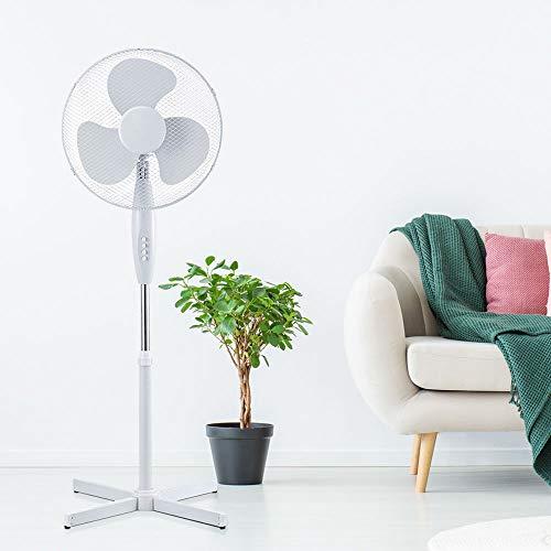 etc-shop Turm Ventilator weiß drehbar 3-Stufen Kühler Büro Wohn Zimmer Fernbedienung Stand Lüfter oszillierend schwarz Display, Farbe:weiß - Standventilator