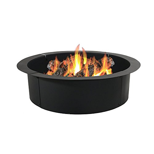 Sunnydaze Fire Pit Ring/Liner - Heavy Duty DIY Above or In-Ground Outdoor Backyard Wood Burning Bonfire Insert Kit - 36-Inch Outer/30-Inch Inner Diameter