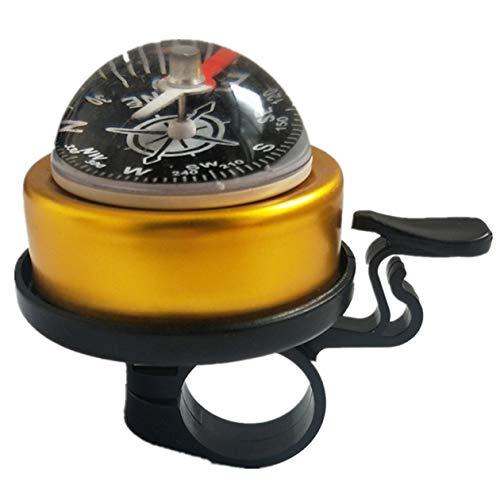 cottonlilac 1 Stück Mountainbike-Kompass Glockenkompass für große Hemisphäre Bell Mountainbike-Führer Bell Riding Equipment - Gelb