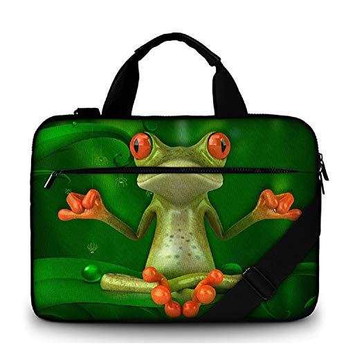 """Funky Planet 17\""""-17,3\"""" Zoll Canvas Strong Laptop Notebook Tasche Griff, Riemen Reißverschlussfach Schutzhülle Bags/Cases"""