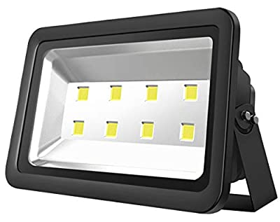 Atoechie Black 400W Outdoor LED Flood Light, Daylight White 6000K, Super Bright 40000lm, 50000hrs Lifetime, Waterproof IP65, Lighting Fixtures for Backyards Buildings Parking Lots