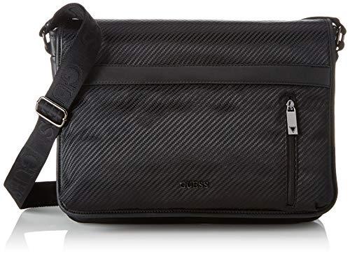 Guess Herren Global Functional Wbag 2 Cmprt Business Tasche, Schwarz (Black), 9x30x40 Centimeters