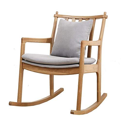 ZJN-JN Sedia Sedia a Dondolo Relax Rocking Chair Lounge Chair Moderna casa o Ufficio Mobili Relax Chair (Colore: Grigio, Dimensione: 82.5x80x56cm)