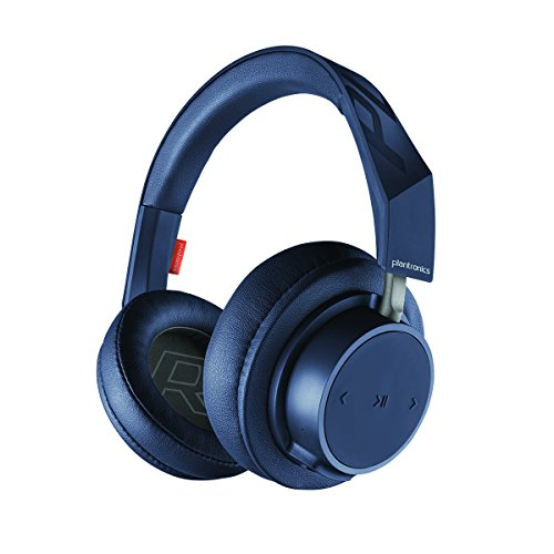 Plantronics BackBeat GO 600 Noise-Isolating Headphones, Over-The-Ear Bluetooth Headphones, Navy (211139-99)